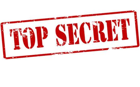 Ilustración de Rubber stamp with text top secret inside, vector illustration - Imagen libre de derechos