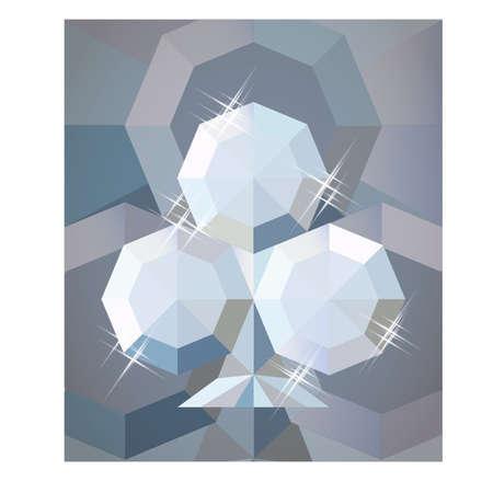 Ilustración de Diamond poker clubs wallpaper, vector illustration - Imagen libre de derechos