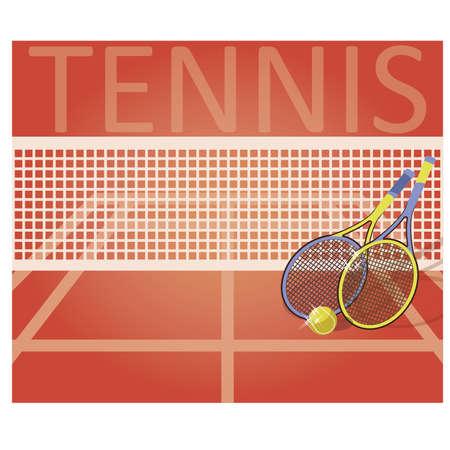 Ilustración de Tennis court, vector illustration - Imagen libre de derechos