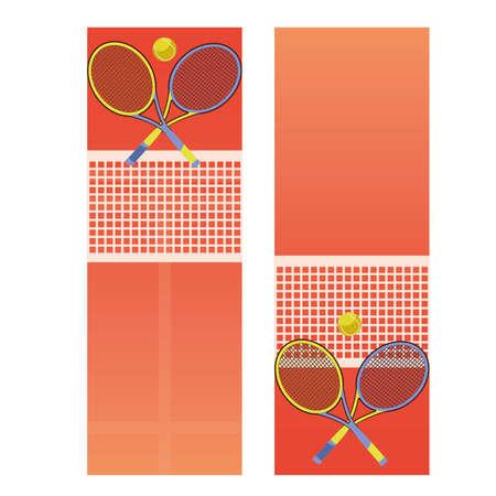 Ilustración de Tennis court banners, vector illustration - Imagen libre de derechos