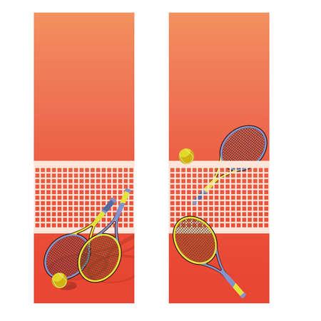 Ilustración de Tennis court vertical banners, vector illustration - Imagen libre de derechos