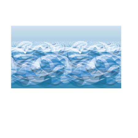 Ilustración de Ocean waves banner, vector illustration - Imagen libre de derechos