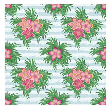 Ilustración de Beautiful summer seamless pattern, vector illustration - Imagen libre de derechos