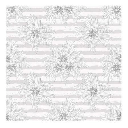 Ilustración de Beautiful summer floral seamless pattern, vector illustration - Imagen libre de derechos