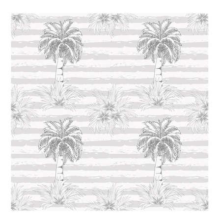 Ilustración de Palm tree summer seamless pattern, vector illustration - Imagen libre de derechos