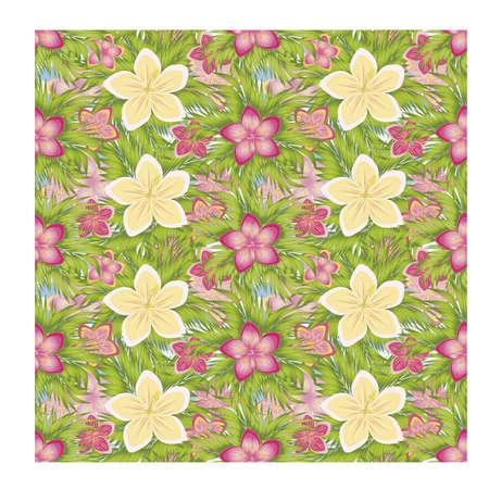 Ilustración de Tropical seamless pattern, vector illustration - Imagen libre de derechos