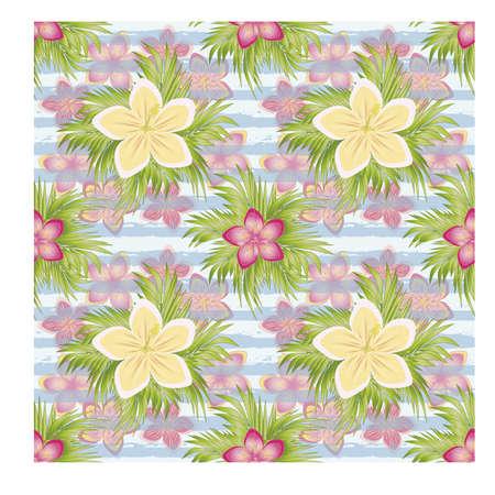 Ilustración de Beautiful Tropical seamless pattern, vector illustration - Imagen libre de derechos
