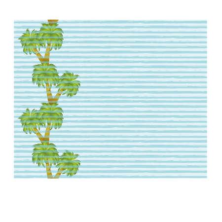 Ilustración de Palm tree seamless banner, vector illustration - Imagen libre de derechos