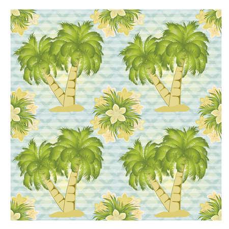 Ilustración de Palm tree seamless pattern, vector illustration - Imagen libre de derechos
