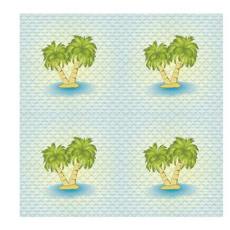 Ilustración de Seamless pattern with palm tree, vector illustration - Imagen libre de derechos