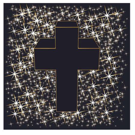Ilustración de Happy Easter cross, vector illustration - Imagen libre de derechos
