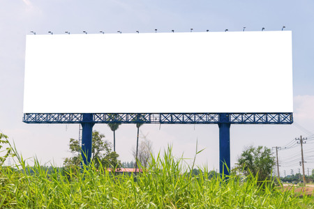 Photo pour large Blank billboard ready for new advertisement. - image libre de droit