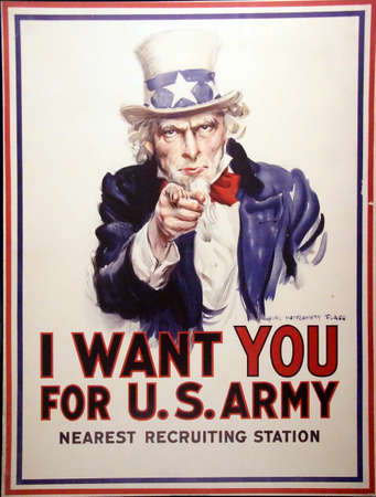 Foto für PARIS - DEC 5, 2018 - I Want You for the US Army  - World War I Recruiting poster, Les Invalides Army Museum, Paris, France - Lizenzfreies Bild
