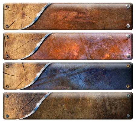 Photo for Set of grunge banners - Royalty Free Image