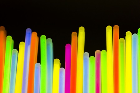 Photo for Colorful fluorescent light neon on blanck background - Royalty Free Image