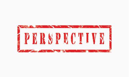 Foto de Perspective, grunge rubber stamp isolated on white background, grunge text rubber stamp, grunge rubber stamp background Concept Design - Imagen libre de derechos