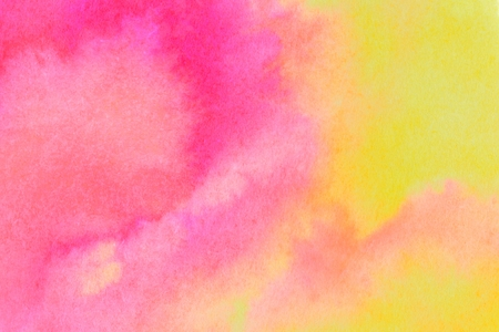 Photo pour Pink and yellow ink wash background. Close up of original artwork. - image libre de droit
