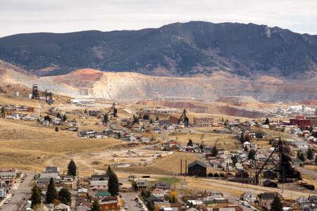 Foto de The Berkeley Pit Mine and Butte Montana - Imagen libre de derechos