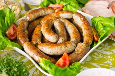 Photo pour Traditional baked polish sausage during the easter - image libre de droit