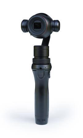 Foto de Osmo Plus Camera Isolated on White Background - Imagen libre de derechos