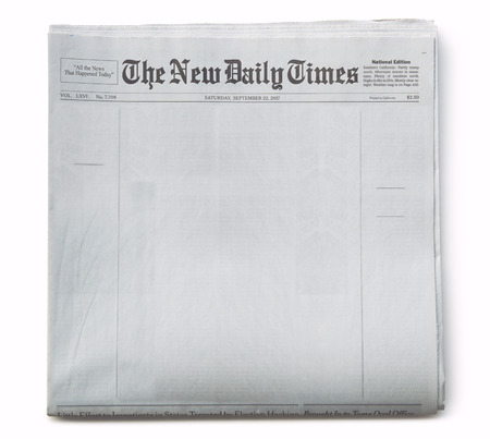 Photo pour Fake Newspaper Front Page Blank with Title - image libre de droit