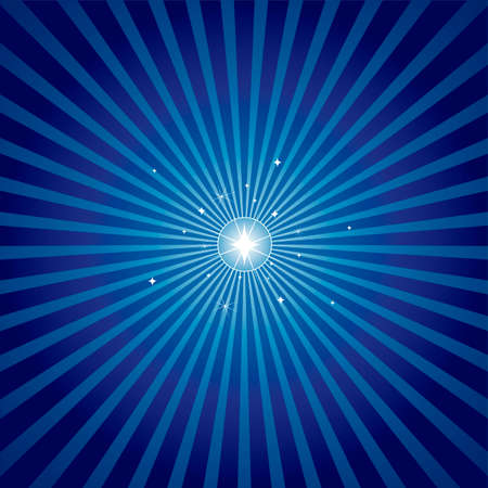 Star shining brightly with a radial background in blue. Off-centred versions of the star in Christmas colours also available in my portfolio.