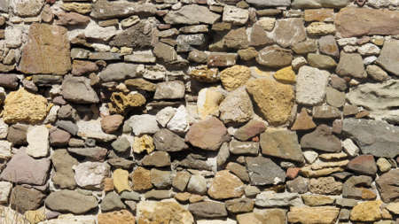 Photo for Old Colorfull Stone Wall  on Sunny Day - Royalty Free Image
