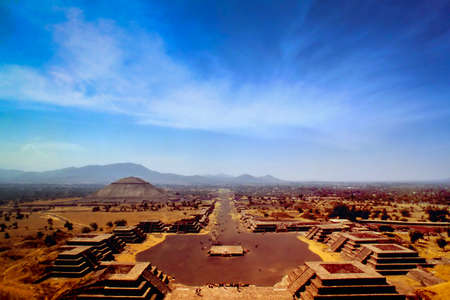 Photo for Teotihuacan is a vast Mexican archaeological complex northeast of Mexico City - Royalty Free Image