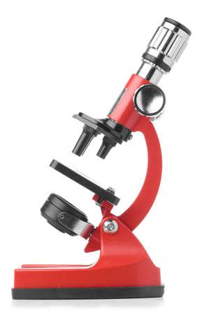 Foto de red microscope - Imagen libre de derechos