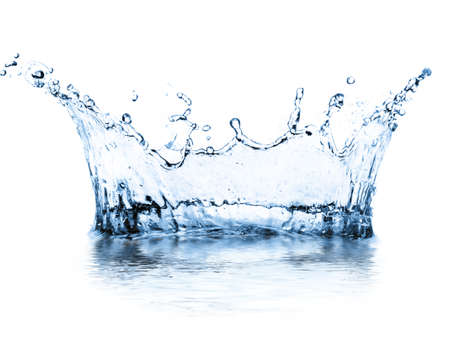 Photo pour water splash isolated on white - image libre de droit