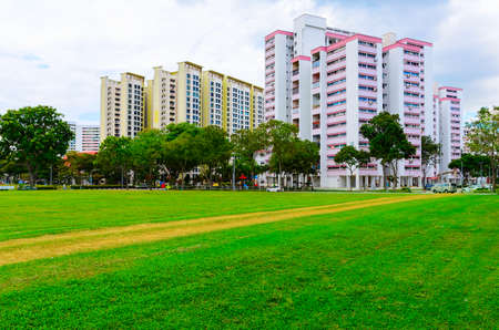 Photo for view of Singapore residential buildings - Royalty Free Image