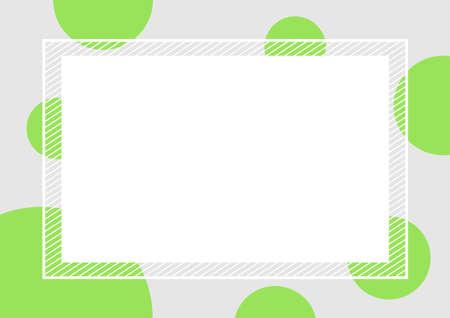 Ilustración de empty banner frame polka dot green colors square background, banner frame polka dot pastel green color copy space advertising, template banner blank and polka dot green gray frame for graphic design - Imagen libre de derechos