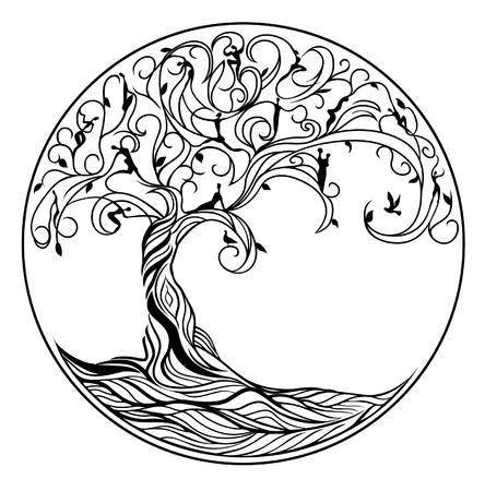 Illustration pour Tree of life on white background - image libre de droit