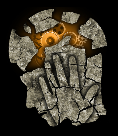 Foto de Man head Depression headache stress. - Imagen libre de derechos