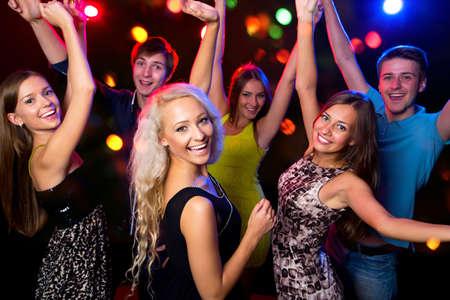 Foto de Young people having fun dancing at party. - Imagen libre de derechos