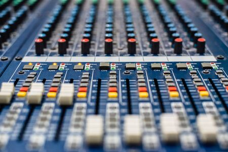 Photo for DJ station and DJ mixer equipment. - Royalty Free Image