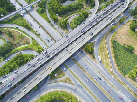 Photo for Aerial of Freeway - Royalty Free Image
