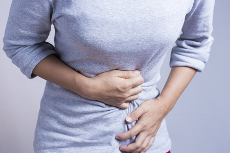 Photo for Woman Stomach Ache - Royalty Free Image