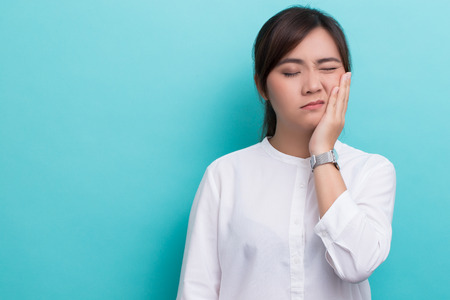 Photo for Woman has toothache - Royalty Free Image