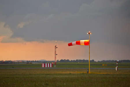 The storm is approaching the airport - copy space