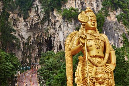 Photo for Statue of hindu god Muragan, Batu Caves Temple complex in Kuala Lumpur, Malaysia.  - Royalty Free Image