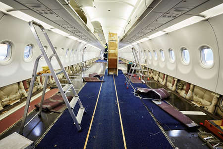 Photo for Cabin of the airplane under heavy maintenance - Royalty Free Image