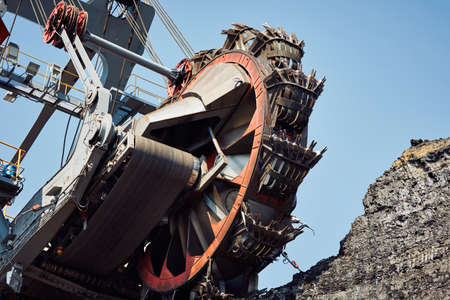 Photo for Huge mining machine in the coal mine - Royalty Free Image