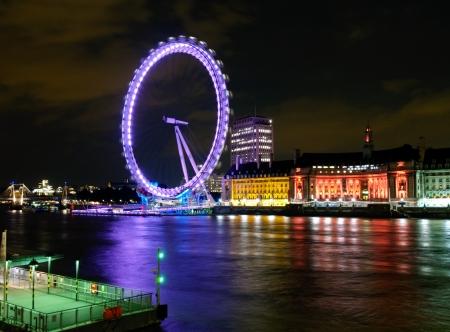 Foto de London Eye In Night - Imagen libre de derechos