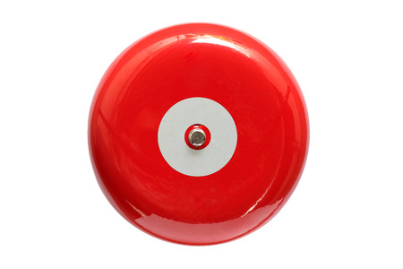 Photo pour Red fire alarm isolated on white background - image libre de droit