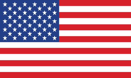 Photo for vector image of american flag - Royalty Free Image