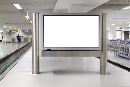 Foto de Blank LCD Screen display mock up banner in airport - Imagen libre de derechos