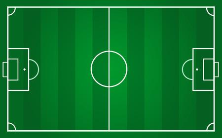 Ilustración de vector of football pitch template - Imagen libre de derechos