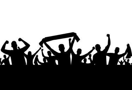 Illustration pour vector of silhouette sport supporter - image libre de droit