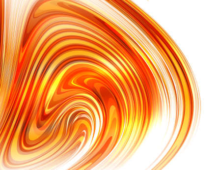 Abstract glossy swirl on white background. Bright abstract curve. Vector background.